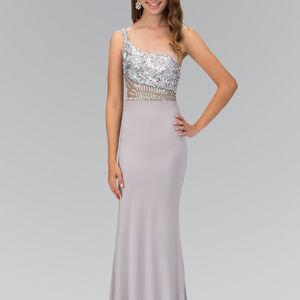 One Shoulder Sleeveless Long Evening Dress GL2086
